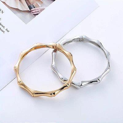 Bracelete Bambu Ródio Branco