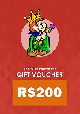 Gift Voucher - R$ 200