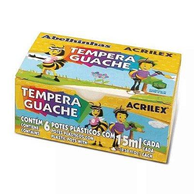Tempera Guache ACRILEX - 15 ml - 6 cores