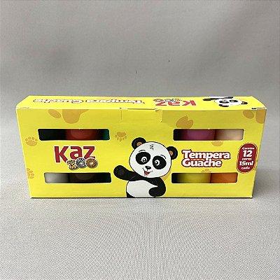 Tempera Guache KAZ - 15 ml - 12 cores