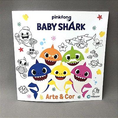 Livro Arte&Cor Baby Shark Pink Fong