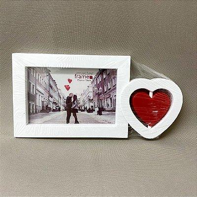 Porta Retrato Coração Móvel Lateral 15 cm x 10 cm