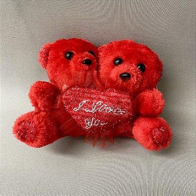 Urso de Pelúcia Duplo I Love You