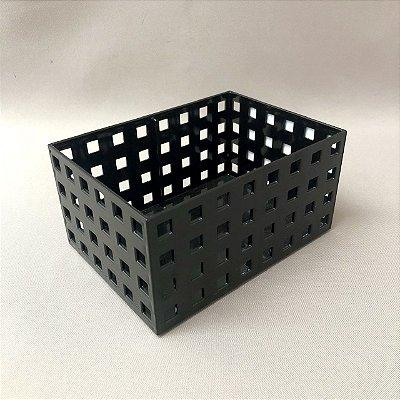 Organizador Empilhável 16 x 11,5 x 8 cm Quadratta Preto