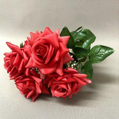 Buquê de Rosas Vermelhas Artificial