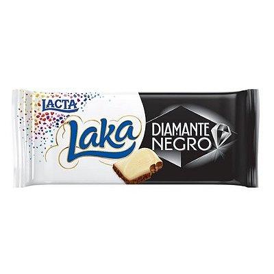 Barra de Chocolate Laka e Diamante Negro LACTA 90g