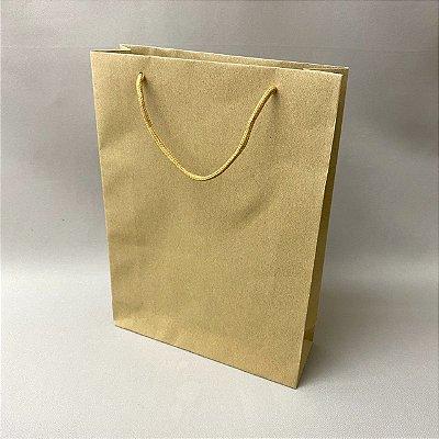Sacola de Presente Papel Kraft 32,5 cm