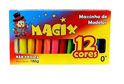 Massinha de Modelar MAGIX 12 cores - 180g
