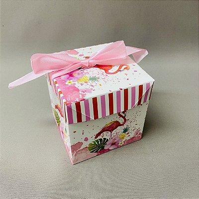 Caixinha Para Presente Flamingo