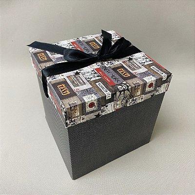 Caixa Para Presente Cartão Postal 15cm
