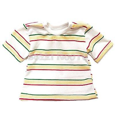 Camiseta Kids Reggae Listras - Branco