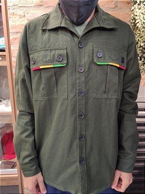 Camisa Sarja Verde Reggae - Belli Roots