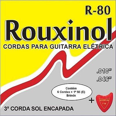 Encordoamento ROUXINOL CORDAS PARA GUITARRA ELÉTRICA R-80