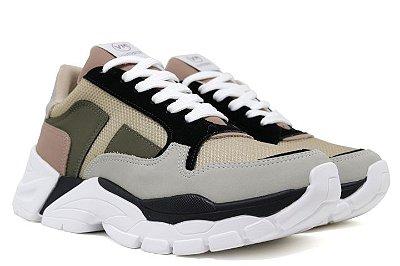 Tênis Chunky Dad Sneaker Via Marte 20-2309 Feminino - Multicor