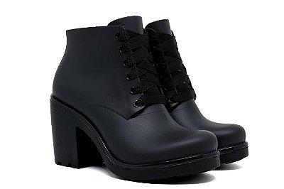 Bota Ankle Boot Impermeável Boa Onda Ale Conforto Feminino - Preto