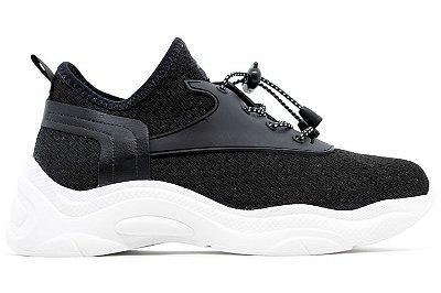 Tênis Knit Chunky Dad Sneaker Flatform Via Marte 20-205 Feminino - Preto