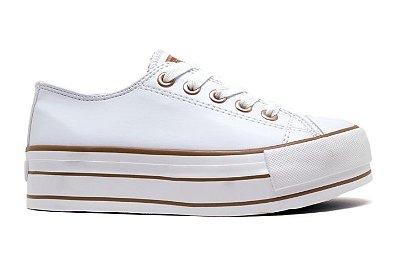 Tênis Capricho Shoes Likes Platform Class CP0599 Feminino - Branco