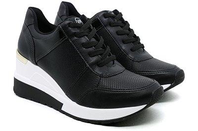 Tênis Sneaker Anabela Via Marte 20-1202 Feminino - Preto