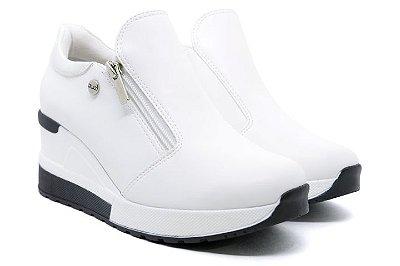Tênis Sneaker Anabela Plataforma Quiz 66-1852 Feminino - Branco