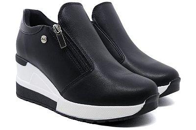 Tênis Sneaker Anabela Plataforma Quiz 66-1852 Feminino - Preto