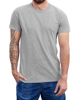 Camiseta Masculina Lisa Tradicional Mescla - 100% Algodão 30.1 Penteado