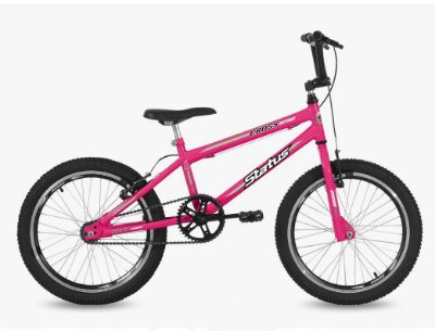 Bicicleta Aro 20 Status Cross Aero Rosa Barbie