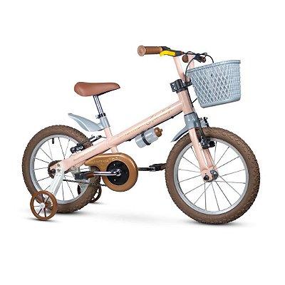 Bicicleta Aro 16 Nathor Antonella Girl Rosa