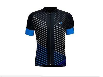 Camisa Mattos Racing Bike Lines Preto e Azul