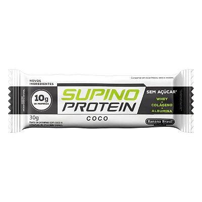 Barra Supino 30g Protein Coco/Cobertura Chocolate Branco