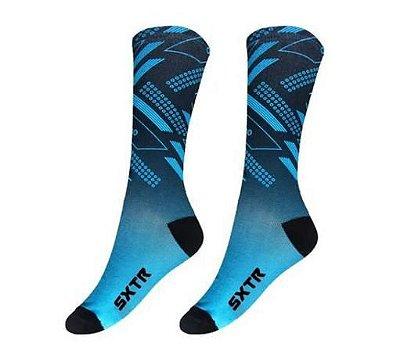 Meia SportXtreme Sublimada Move Azul
