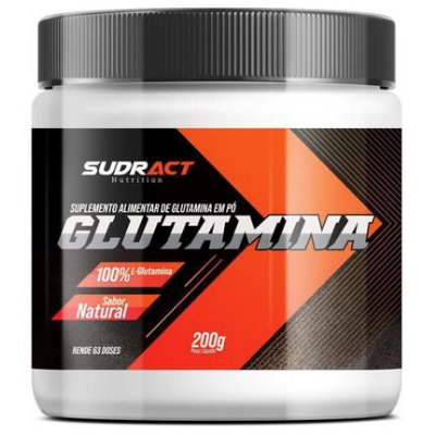 Suplemento 200g Glutamina Sudract Natural
