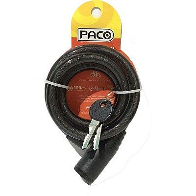 Cadeado Espiral CHAVE 12X1000 Paco 9143