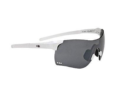 Óculos HB Quad F Pearled White Silver