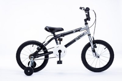 Bicicleta Aro 16 DNZ Freestyle Preto e Aluminio