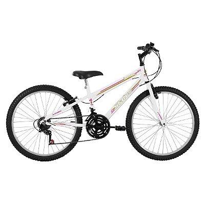 Bicicleta Aro 26 Status Freeride Big Evolution 21V Branco
