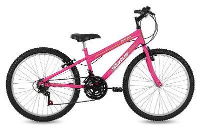 Bicicleta Aro 26 Status Freeride Belissima 21V Rosa