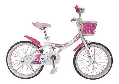 Bicicleta Aro 20 Benoa Branco e Rosa