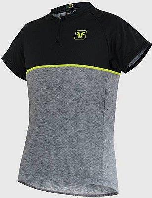 Camisa Free Force Infantil First Mescla/Preto