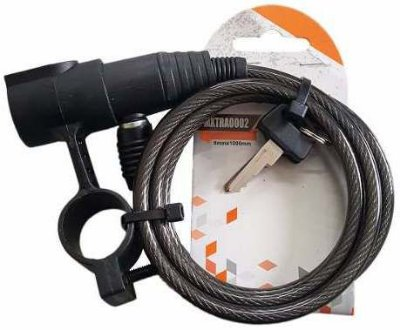 Cadeado Espiral 6X1000 C/Sup Fume C/Chav Maxtrava Bike