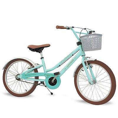 Bicicleta Aro 20 Nathor Antonella Verde Aqua