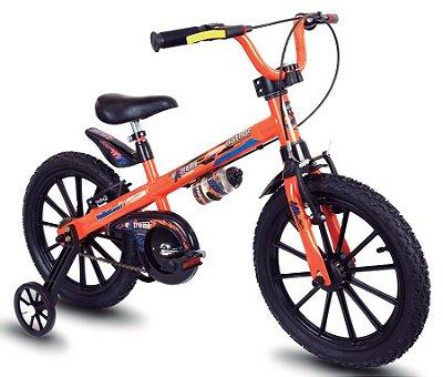Bicicleta Aro 16 Nathor Extreme Laranja e Preto