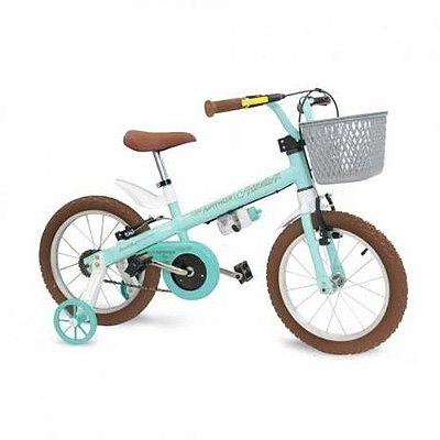 Bicicleta Aro 16 Nathor Antonella Verde Aqua