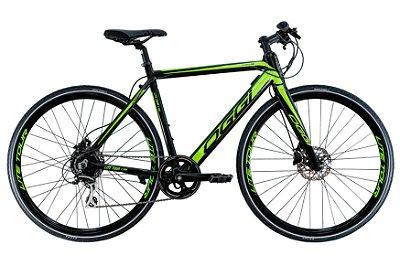 Bicicleta Aro 700 Eletrica Oggi E-Bike Lite Tour E-500 Preto/Verde