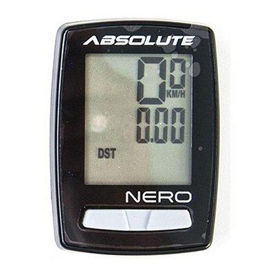 Ciclocomputador Absolute Nero Com Fio 10 Funcoes Preto