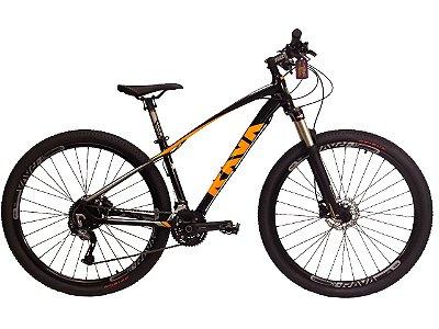 Bicicleta Rava Storm Preto e Laranja