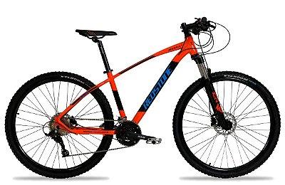Bicicleta Aro 29 Redstone Aquila 27V Laranja/Preto/Azul