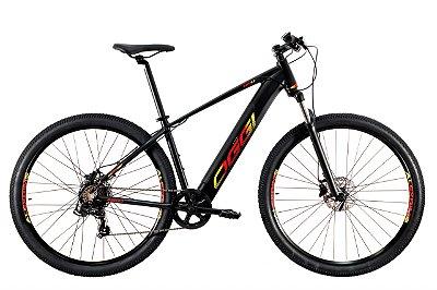 Bike Elétrica Oggi Big Wheel 8.0 Preto, Vermelho e Amarelo