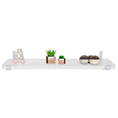 Prateleira Zurique 60 x 15 - Branca/Branca