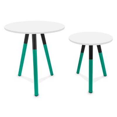 Mesa de Canto Dupla Houston - Verde/Branco