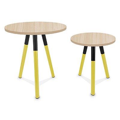 Mesa de Canto Dupla Houston - Amarelo/Jade